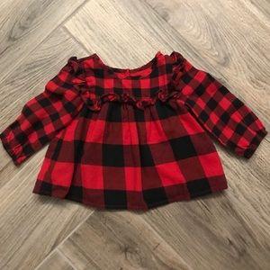 👶🏼 Baby GAP Girls Buffalo Plaid Top, 6-12M